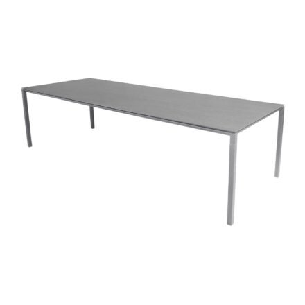 "Cane-line Gartentisch ""Pure"", Gestell Aluminium hellgrau, Platte Keramik basalt grey, 280x100 cm"