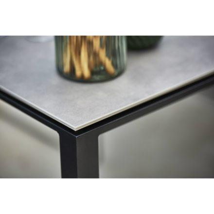 "Cane-line Gartentisch ""Pure"", Gestell Aluminium lavagrau, Tischplatte Keramik concrete grau"