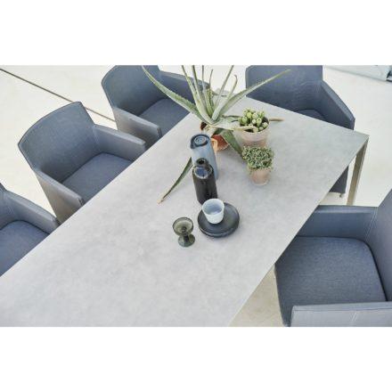 """Cane-line Gartentisch """"Pure"""", Gestell Edelstahl, Tischplatte Keramik concrete grau"""