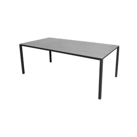 "Cane-line Gartentisch ""Pure"", Gestell Aluminium lavagrau, Platte Keramik concrete-grey, 200x100 cm"