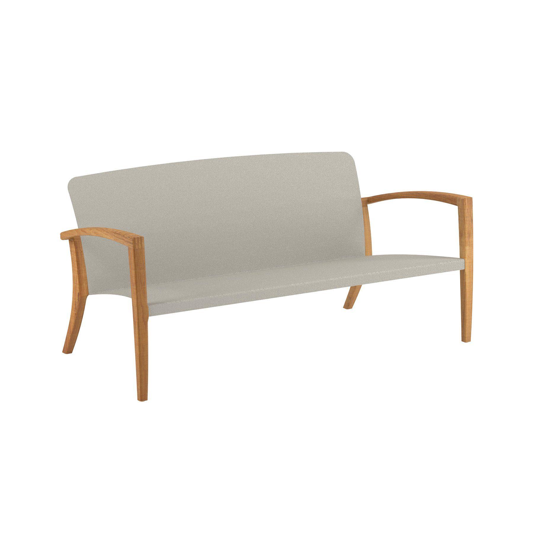 """Gartenbank """"Zidiz 154"""" von Royal Botania, Teakholz mit Sitzschale aus Aluminium sand"""