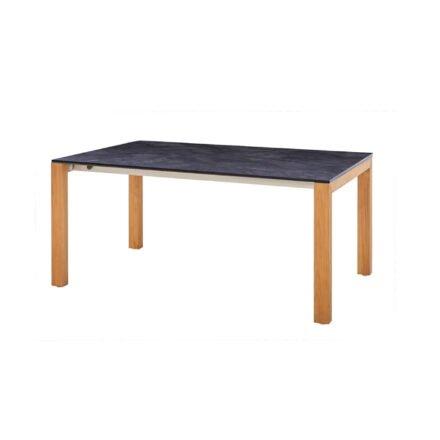 """Diamond Garden Gartentisch """"Palermo"""", Tischbeine Teakholz, Tischplatte HPL Schiefer"""