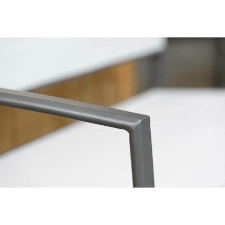"""Gartenbank """"Allround"""" von Stern, Gestell Aluminium anthrazit, Textilgewebe silber"""