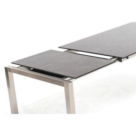 """Ausziehtisch """"Base"""" von Sonnenpartner, 100x200/260 cm, HPL Beton dunkel"""