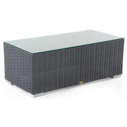 """Loungetisch """"Residence"""" von SonnenPartner, Geflecht graphit-schwarz, Größe: 120x60 cm"""