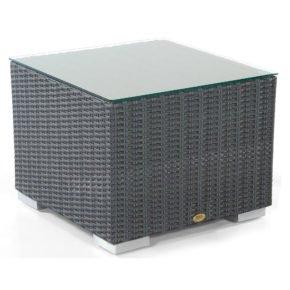 """SonnenPartner Loungetisch """"Residence"""", Gestell Aluminium, Polyrattan graphit-schwarz, Größe: 60x60 cm"""