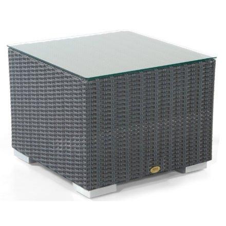 """Loungetisch """"Residence"""" von SonnenPartner, Geflecht graphit-schwarz, Größe: 60x60 cm"""
