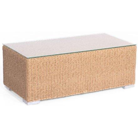 """Loungetisch """"Residence"""" von SonnenPartner, Geflecht Hyazinthoptik, Größe: 120x60 cm"""