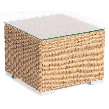 """Loungetisch """"Residence"""" von SonnenPartner, Geflecht Hyazinthoptik, Größe: 60x60 cm"""
