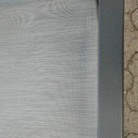 Stern Farbwelt: Gestell Aluminium anthrazit, Textilgewebe silber