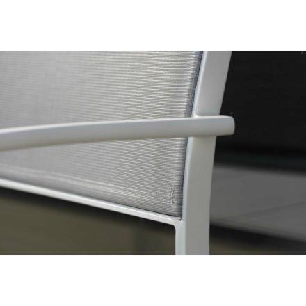 """Stern Gartenbank """"Allround"""", Gestell Aluminium weiß, Sitz- und Rückenfläche Textilgewebe silber"""