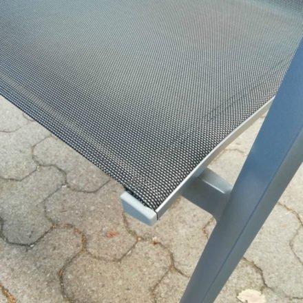 Stern Farbwelt: Gestell Aluminium graphit, Textilgewebe silbergrau