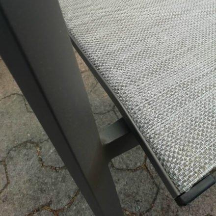 Stern Farbwelt: Gestell Aluminium taupe, Textilgewebe kaschmirfarben