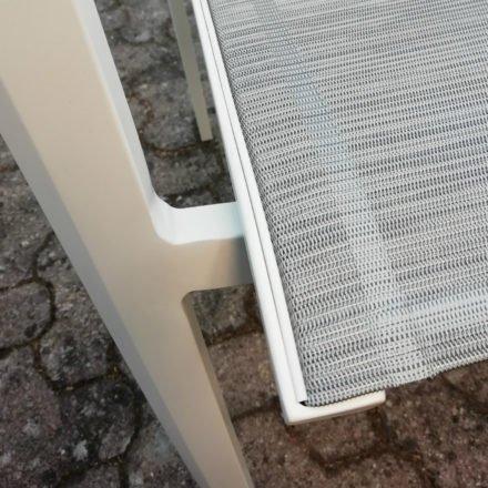 Stern Farbwelt: Gestell Aluminium weiß, Textilgewebe silber