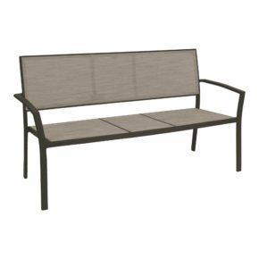 "Stern Gartenbank ""Allround"", Gestell Aluminium taupe, Sitzfläche Textilgewebe kaschmirfarben"