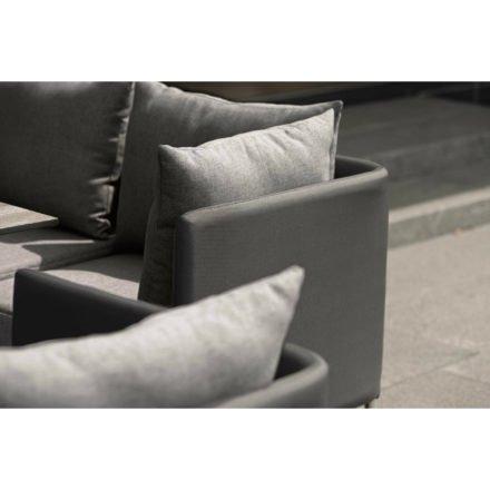 "Stern Lounge ""Miguel"", Gestell Aluminium in Edelstahloptik, Textilenbezug anthrazit, Kissen grau meliert"