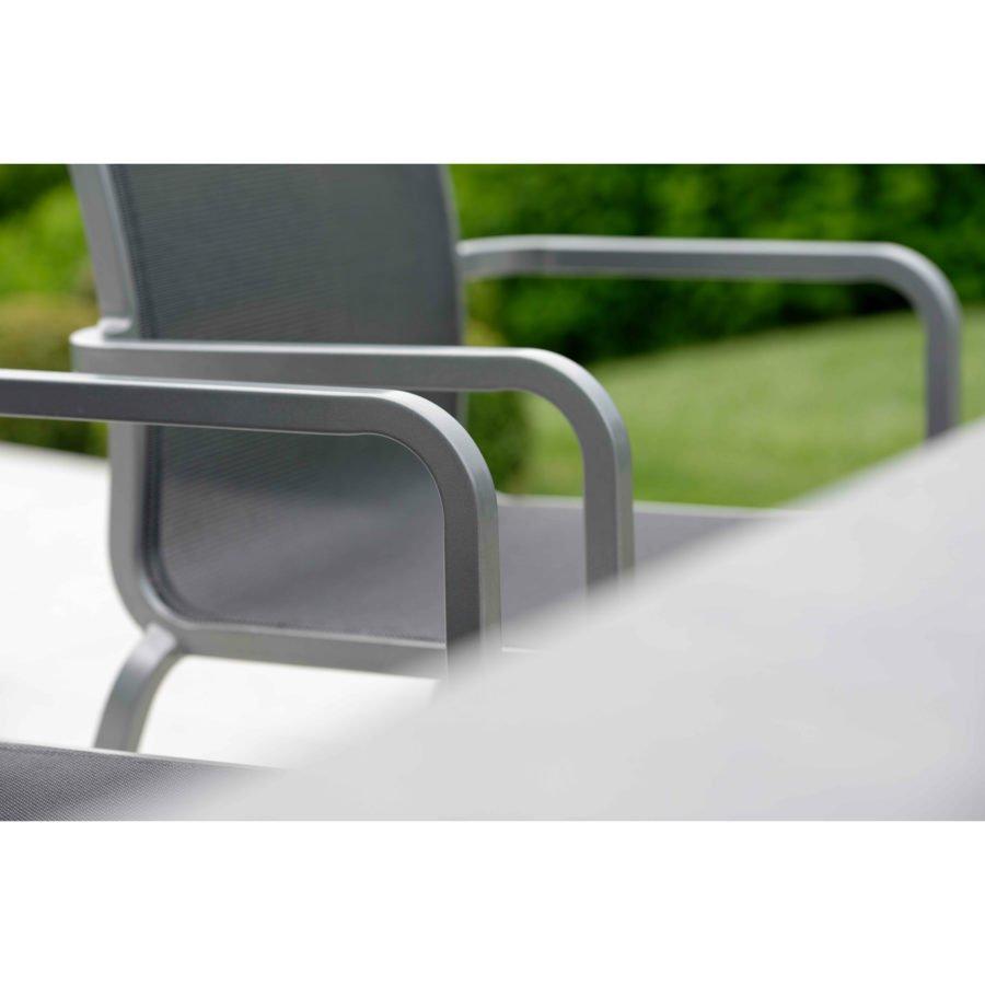 stern gartenm bel set mit stuhl oskar und ausziehtisch aluminium hpl. Black Bedroom Furniture Sets. Home Design Ideas