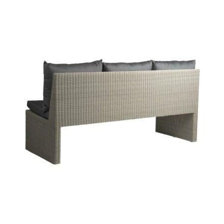 Stern 3-Sitzer Gartenbank Noel, Gestell Aluminium, Geflecht Polyrattan Vintage weiß