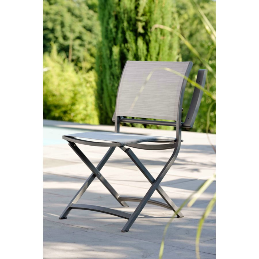 stern gartenm bel set mit stuhl camillo und bistrotisch aluminium hpl. Black Bedroom Furniture Sets. Home Design Ideas
