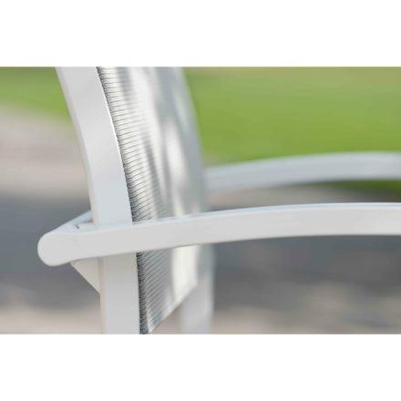 """Balkonklappstuhl """"Camillo"""" von Stern, Gestell Aluminium weiß, Textilgewebe silber"""