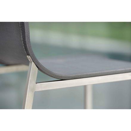 """Stern Barhocker """"Barny"""", Gestell Edelstahl, Sitz- und Rückenfläche Textilgewebe"""