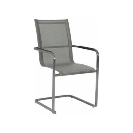 """Stern Freischwinger """"Evoee"""", Gestell Edelstahl, Sitz- und Rückenfläche aus Textilgewebe silber, Armlehnen Aluminium anthrazit"""
