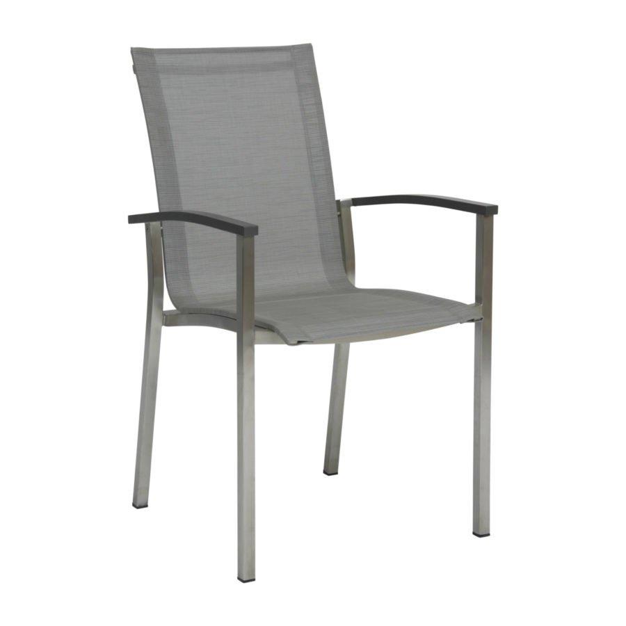 stern gartenm bel set mit stuhl evoee und tisch edelstahl hpl. Black Bedroom Furniture Sets. Home Design Ideas
