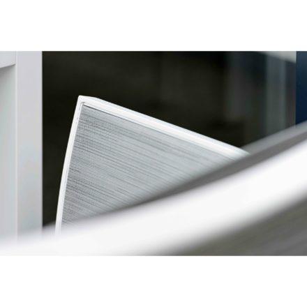 """Modulbank """"Gianni"""" von Stern, Gestell Aluminium weiß, Rückenlehne Textilgewebe silber"""
