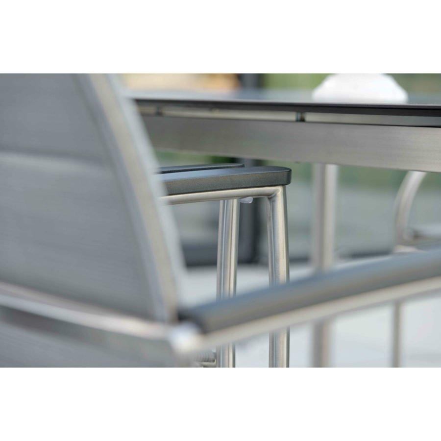 stern gartenm bel set mit stuhl xenia und tisch edelstahl hpl. Black Bedroom Furniture Sets. Home Design Ideas