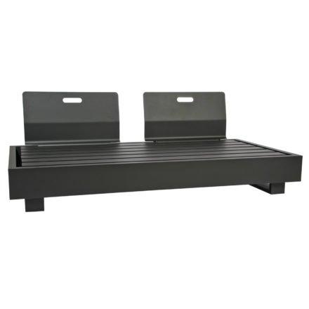 """2-Sitzer Basismodul """"Bari"""" von Jati&Kebon, Aluminium eisengrau, mit zwei Rückenlehnen"""