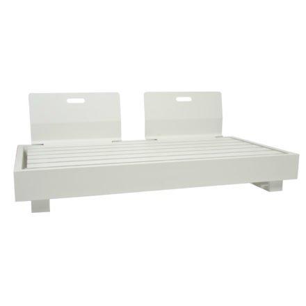 """2-Sitzer Basismodul """"Bari"""" von Jati&Kebon, Aluminium weiß, mit zwei Rückenlehnen"""