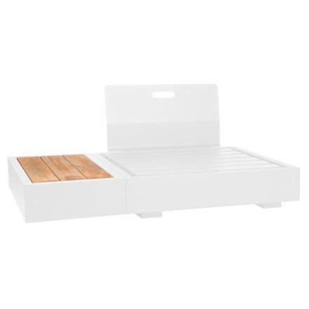 """Basismodul und Beistelltisch """"Bari"""" von Jati&Kebon, Gestell Aluminium weiß, Rückenlehne Aluminium weiß"""