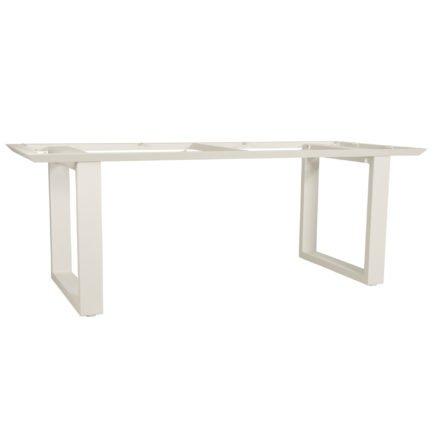 """Gartentisch """"Ely"""" von Jati&Kebon, Gestell Aluminium weiß, Größe: 220x100 cm"""