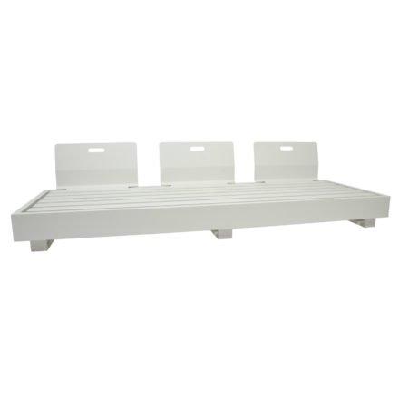 """3-Sitzer Basismodul """"Bari"""" von Jati&Kebon, Aluminium weiß, mit drei Rückenlehnen"""