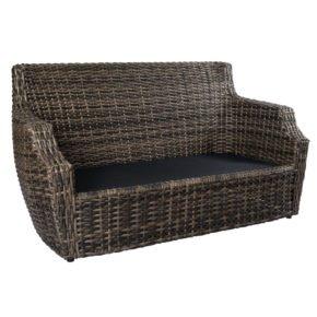 "2-Sitzer Loungesofa ""Utah"" von Jati&Kebon, Gestell Aluminium, Geflecht Polyrattan Vintage Oak"