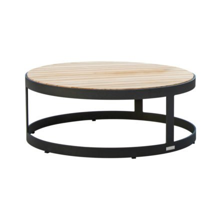 """Loungetisch """"Adagio"""" von Jati&Kebon, Gestell Aluminium eisengrau, Tischplatte Teakholz"""