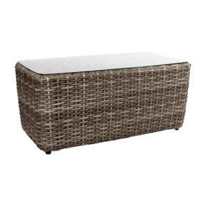 """Loungetisch """"Utah"""" von Jati&Kebon, Gestell Aluminium, Geflecht Polyrattan Vintage Oak"""