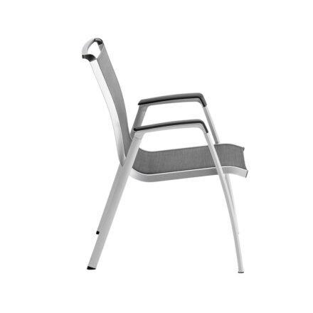 """Kettler """"Forma II"""" Stapelsessel, Gestell Aluminium silber, Sitzfläche Textilgewebe graphit"""