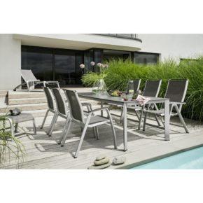 """Kettler Gartenmöbel-Set mit Sessel, Hocker und Rollliege """"Forma II"""" sowie Tisch """"Edge"""""""