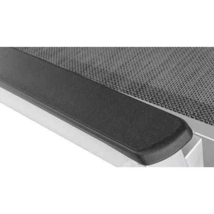 """Kettler """"Forma II"""" Sonnenliege, Gestell Aluminium silber, Liegefläche Textilgewebe graphit, Armlehne mit Kunststoffauflage"""