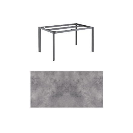 """Kettler """"Edge"""" Tischgestell 140x70 cm, Alu anthrazit, mit Tischplatte HPL anthrazit"""