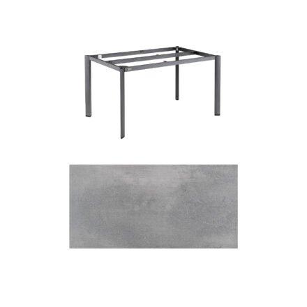 """Kettler """"Edge"""" Tischgestell 140x70 cm, Alu anthrazit, mit Tischplatte HPL silber-grau"""