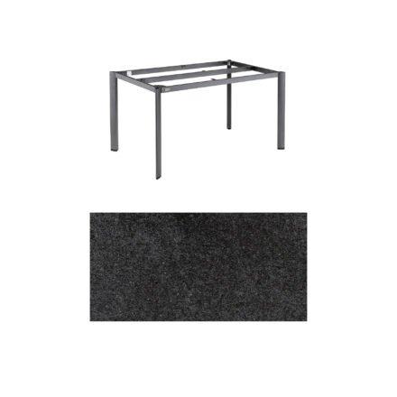 """Kettler """"Edge"""" Tischgestell 140x70 cm, Alu anthrazit, mit Tischplatte HPL Stahl"""