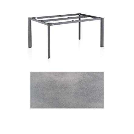 """Kettler """"Edge"""" Tischgestell 160x95cm, Alu anthrazit, mit Tischplatte HPL silber-grau"""