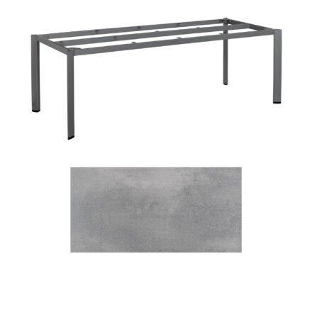 """Kettler """"Edge"""" Tischgestell 220x95cm, Alu anthrazit, mit Tischplatte HPL silber-grau"""