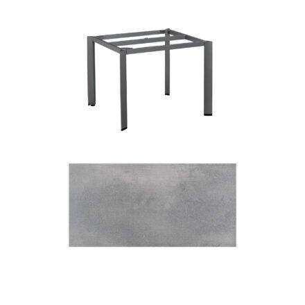 """Kettler """"Edge"""" Tischgestell 95x95cm, Alu anthrazit, mit Tischplatte HPL silber-grau"""