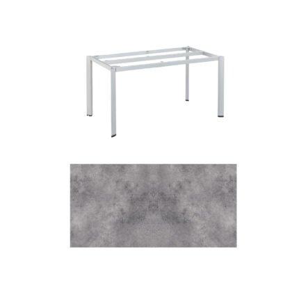 """Kettler """"Edge"""" Tischgestell 140x70 cm, Alu silber, mit Tischplatte HPL anthrazit"""