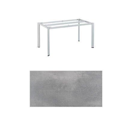 "Kettler ""Edge"" Tischgestell 140x70 cm, Alu silber, mit Tischplatte HPL silber-grau"