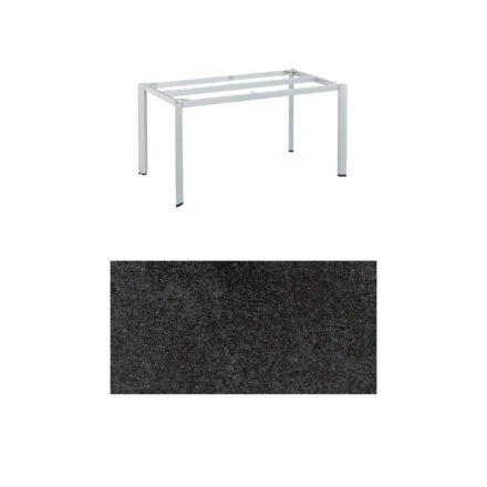 """Kettler """"Edge"""" Tischgestell 140x70 cm, Alu silber, mit Tischplatte HPL Stahl"""