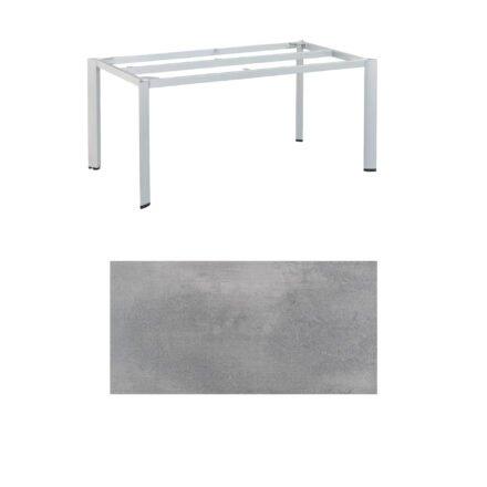 "Kettler ""Edge"" Tischgestell 160x95cm, Alu silber, mit Tischplatte HPL silber-grau"